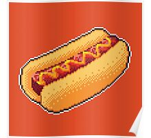 Pixel Hot Dog Poster
