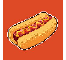 Pixel Hot Dog Photographic Print