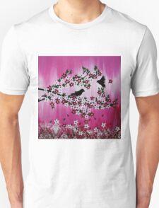 Pink Cherry Blossom Art Unisex T-Shirt