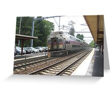 Fully Doubled Decker Commuter Rail Greeting Card