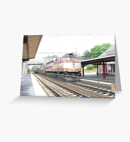 MBTA Commuter Rail Engine Greeting Card