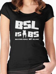 BSL is BS (dark) Women's Fitted Scoop T-Shirt