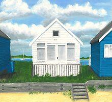 The white beach hut by Richard Paul