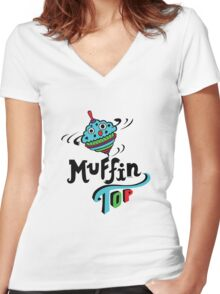 Muffin Top Women's Fitted V-Neck T-Shirt