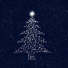 Nightsky with Xmas Stars  by clearviewstock