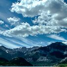 Clouds over Barrier lake by Justin Atkins