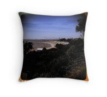 Brighton Beach - retro - Victoria - Australia Throw Pillow