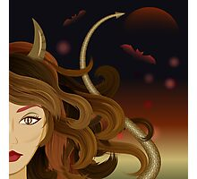 Witch devil girl Photographic Print