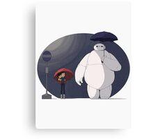 Big Hero 6 Totoro Canvas Print