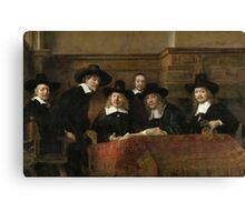 The Sampling Officials by Rembrandt van Rijn 1662 Canvas Print