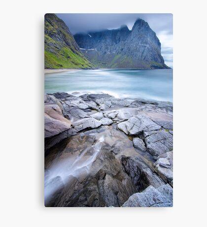 Kvalvika Beach - Lofoten Islands Canvas Print