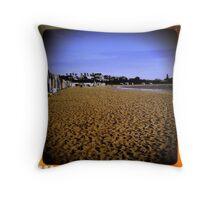 Brighton Beach - looking south - Victoria - Australia Throw Pillow