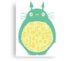 Totoro Ghibli Canvas Print