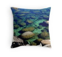 """Rocks, Ripples and Color"" Throw Pillow"