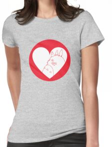 My Neighbour Totoro Heart Womens Fitted T-Shirt