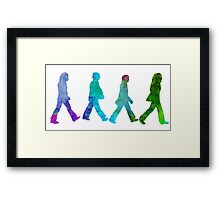 beatless abeyroad rainbow Framed Print