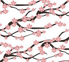 Sakura pattern by JuliaBadeeva