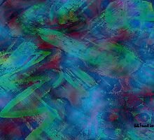 Greens and Blues Abstract pattern  by kreativekate