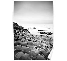 The Giants Causeway B&W Poster