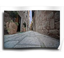 An alley in Croatia  Poster