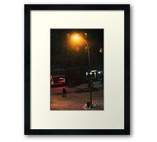 Snow on Greenwich  Framed Print