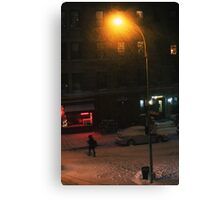 Snow on Greenwich  Canvas Print
