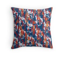 Colourful brush marks Throw Pillow