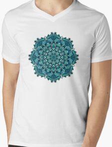 Blue mandala Mens V-Neck T-Shirt