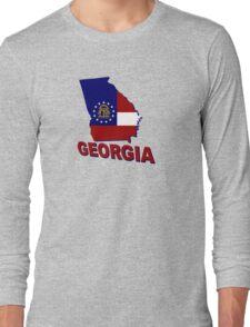 Georgia State Flag Long Sleeve T-Shirt