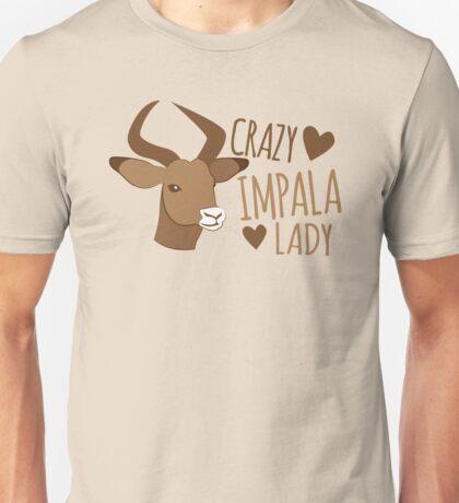 Crazy impala lady Unisex T-Shirt