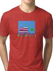 Hawaii State flag Tri-blend T-Shirt