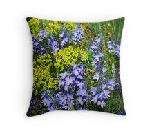 Euphorbia And Veronica Throw Pillow