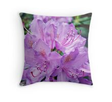 Mauve Rhododendron Throw Pillow
