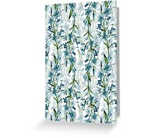 Blue branches Greeting Card