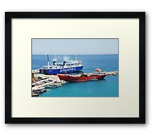 Achilleas ferry, Alonissos Framed Print