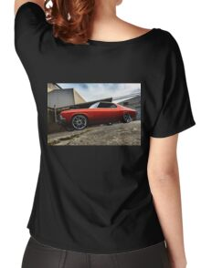 MRBADQ - Aussie Muscle Burnout Car Women's Relaxed Fit T-Shirt