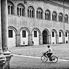 Three walking :: One biking by Silvia Ganora