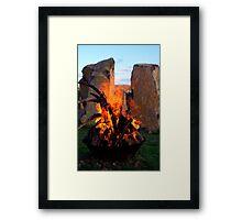 Spring Solstice Fire Framed Print