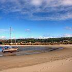 Tide out at Braye Beach - Alderney by NeilAlderney