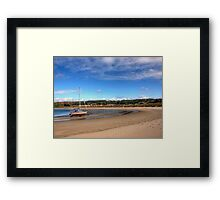 Tide out at Braye Beach - Alderney Framed Print