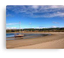 Tide out at Braye Beach - Alderney Canvas Print