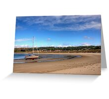 Tide out at Braye Beach - Alderney Greeting Card