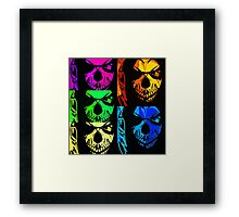 Glens Mask Collage Framed Print