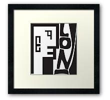 Lon. Framed Print