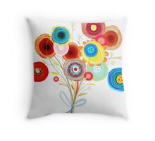 Awesome Wedding Bouquet Ranunculus Throw Pillow