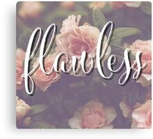 Flawless Floral Beyonce Design Canvas Print