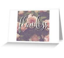Flawless Floral Beyonce Design Greeting Card