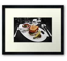 Butty and Soup Framed Print