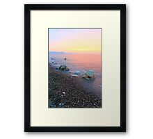Silky Sunset Framed Print