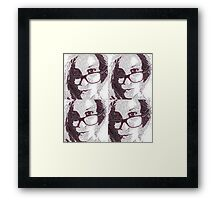 Catalea's Black and White Selfies Framed Print